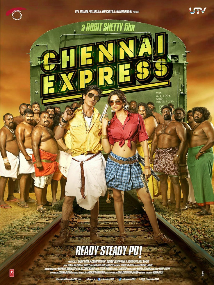 Chennai Express, starring Shahrukh Khan and Deepika Padukone has arrived! Tell us which poster you like most.