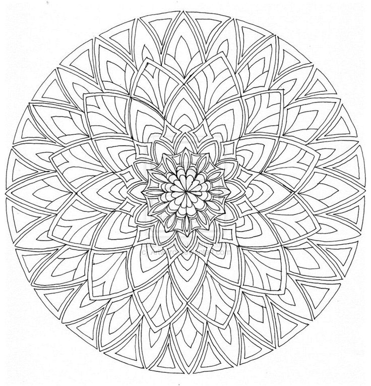540 Best Images About Mandalas Coloring Pages Embroidery