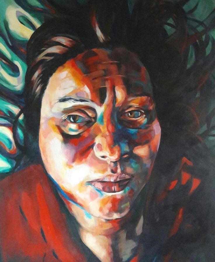 Self portrait after stroke