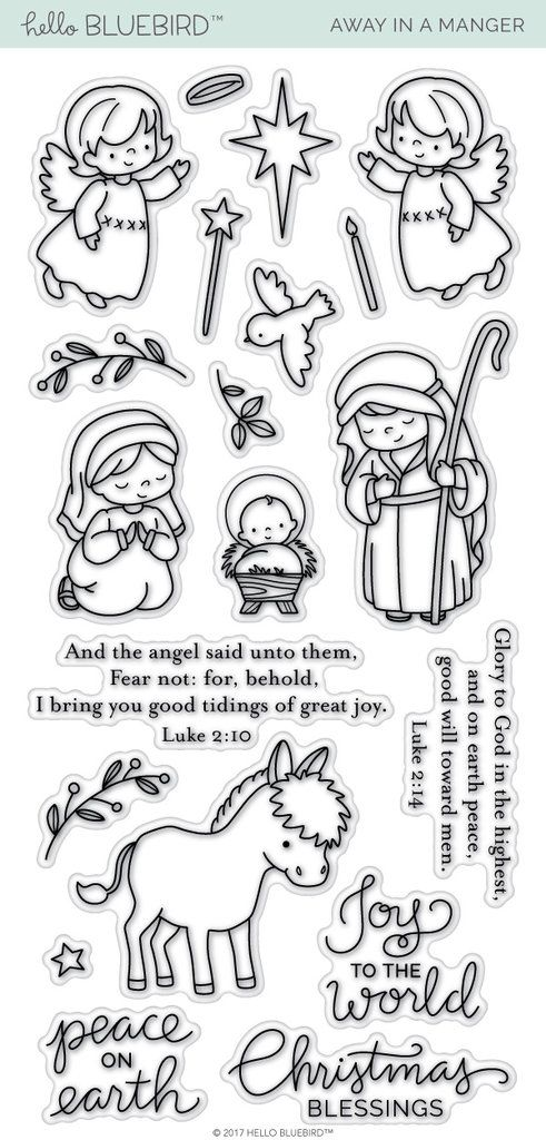 Away in a Manger | Crafty Wishlist | Pinterest | Christmas, Blue ...