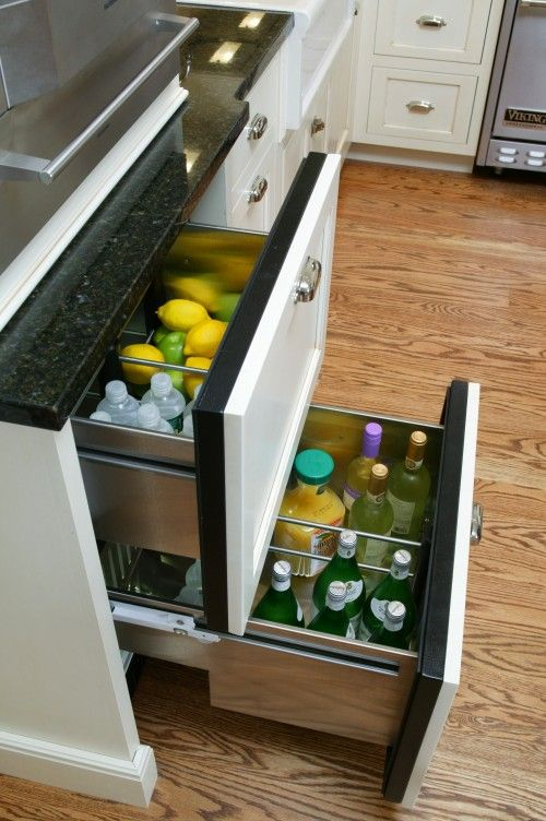 Refrigerator drawers-cool idea!!!