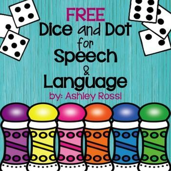 """Free: Target word-level articulation and language goals-No prep, all black & white speech therapy activities!All you need is dice and dot markers!Contents: Articulation: (Vocalic R, Initial R, R Blends) - 36 words per page!!Language: (Synonyms, Categories) - 36 per page!!*These are perfect for the elementary to middle school student who prefers not to have """"young looking"""" clip art.This is a small sample for the full product here:Dice and Dot for Speech and LanguageIt has 50 pages of NO P..."""