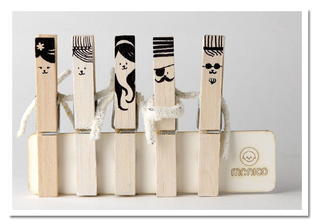 Clothes pin friends...