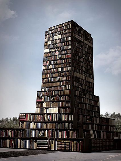 fictional monument conceived by visual artist Anca Benera after hearing the story of Stalin's statue in Bucharest whose base was supposed to be home to a Marxist-Lenninist library