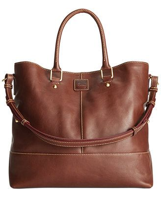 Dooney & Bourke Florentine Chelsea Shopper $398 AT MACYS IN CHESTNUT