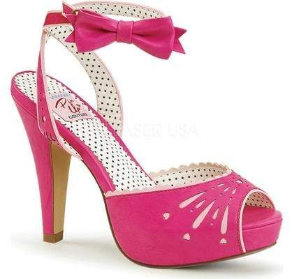 Pin Up Couture Bettie 01 Ankle Strap Sandale (Damens's) hot hot (Damens's) pink high ... 2e326e
