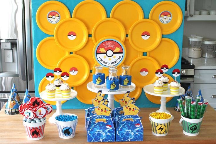 Pokemon Party by Craft That Party #BirthdayExpress #PokemonParty #boyparties
