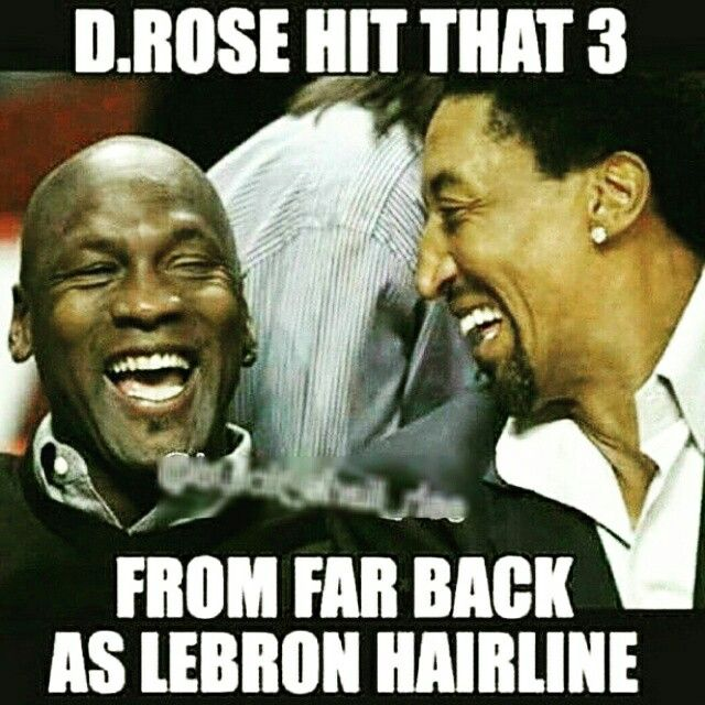 Jordan and Pippen on DRose Trey as far back As Queen LeBron hairline lol