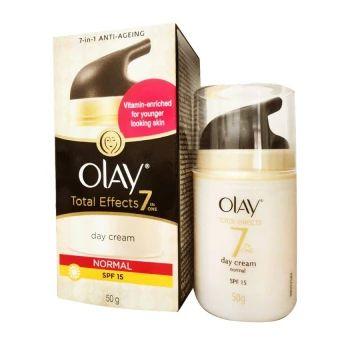 รีบเป็นเจ้าของ  Olay Total Effects 7 in one Normal Day Cream SPF15 50 g.โอเลย์บำรุงผิวหน้าผสมสารป้องกันแสงแดด  ราคาเพียง  475 บาท  เท่านั้น คุณสมบัติ มีดังนี้ ผ่านการทดสอบโดยผู้เชี่ยงชาญด้านผิวหนัง ลดเลือนริ้วรอยบางและรอยเหี่ยวย่น ให้ผิวเรียบเนียนและรูขุมขนแลดูเล็กลง บำรุงและเติมความชุ่มชื่นให้แก่ผิว SPF15 ปกป้องผิวจากรังสี UVA/UVB