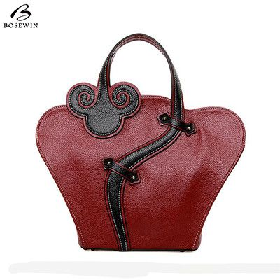 Bosewin Snake Zodiac women tote bag with snake bucket bag high quality PU leather handbag vintage shoulder messenger bags
