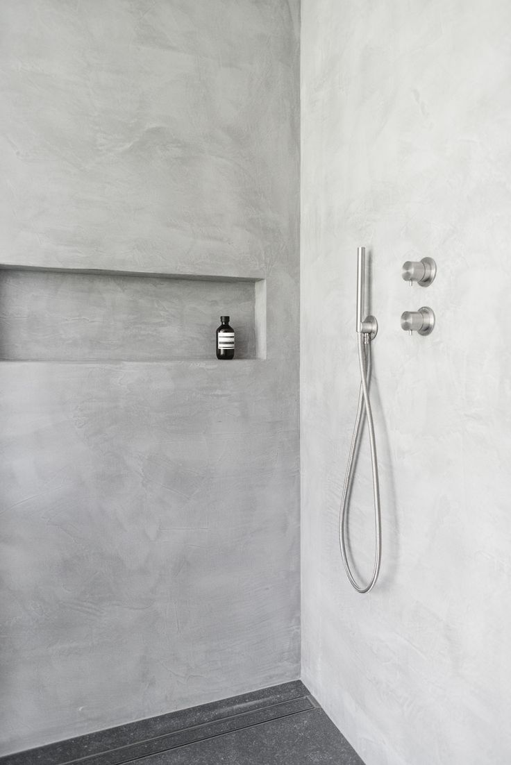 douche italienne - béton ciré #polishedconcrete #italianshower #swiss