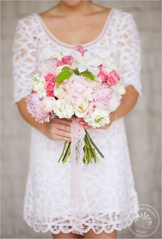 soft pink wedding bouquet
