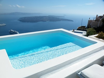 how about having your own private lap pool right outside your room on the cliffs of Santorini ! let me make this dream come true for you.....