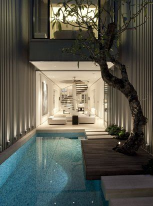 narrow space for pool