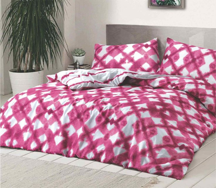 Tie Dyed Pink Duvet Quilt Bedding Set – Linen and Bedding