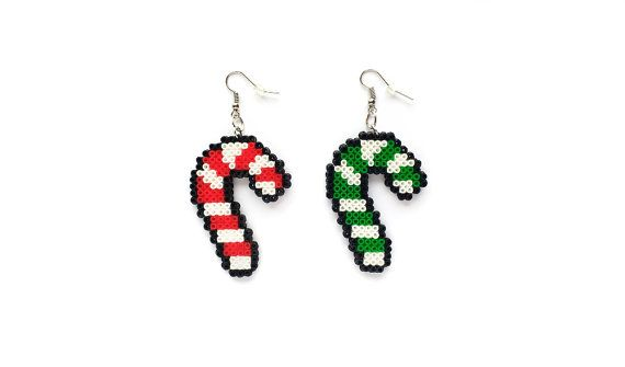 Candy Cane Earrings / Christmas Jewelry / Geeky Holiday