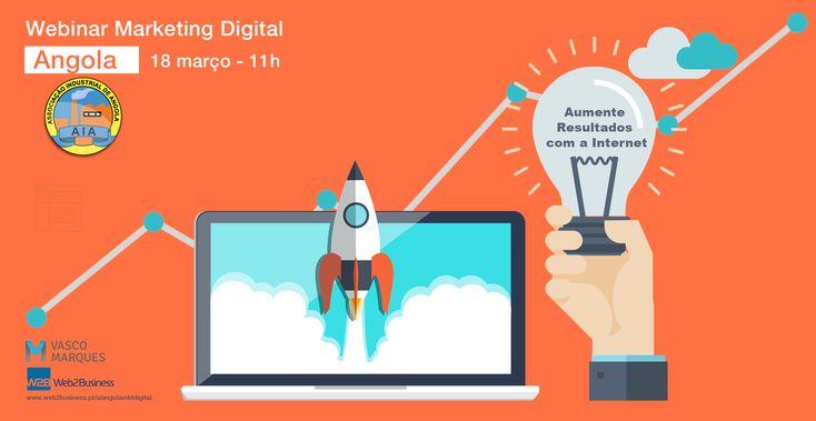 Webinar online em direto Marketing Digital com Vasco Marques, em parceria com a Associação Industrial de Angola.