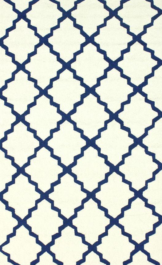 Hacienda Lattice Trellis Outdoor Rug (White or Navy?) // Rugs USA