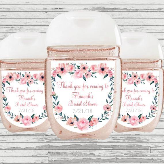 Flower Bridal Shower Favor Hand Sanitizer Label Digital File