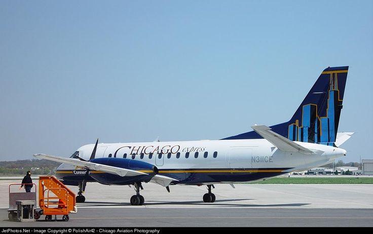 Saab 340B, Chicago Express Airlines, N311CE, cn 340B-214, first flight 10.10.1990 (Nashville Eagle), Chicago Express delivered 17.8.2001, next Colgan Air (11/2005). Foto: Madison, USA, 4.5.2002.