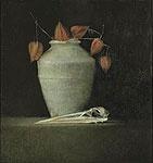 Kunstwerk 9980 Reigerschedel van kunstenaar Pieter Knorr