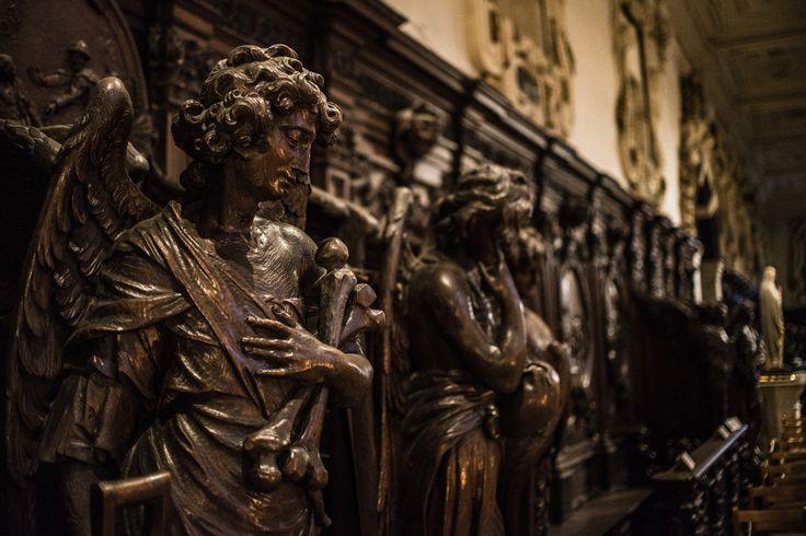 Woodcarvings in interior of old Antwerp church, Belgium  Photography: Jeanine Polderdijk for ComMediArt