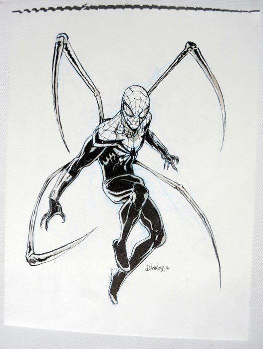 Dan Mora Superior Spiderman Original Marker Sketch