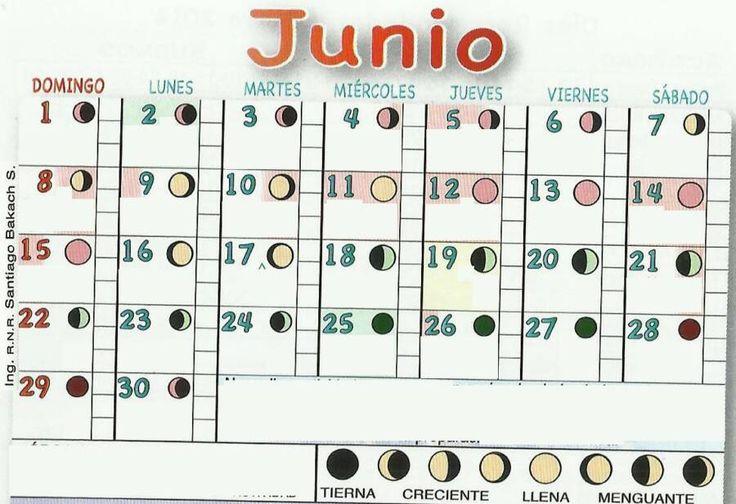 calendario lunar 2015 junio | Calendarios con las Fases Lunares