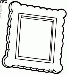 lijst kleurplaat thema kunst