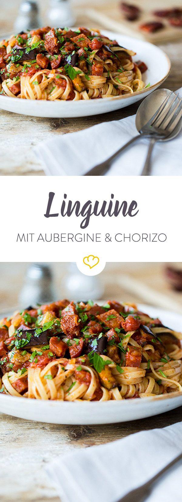 Manchmal darf es ein Portiönchen mehr an Schärfe sein. Mit Chorizo und einem feinen Hauch Chili trifft man da genau die richtige Wahl für das Pastagericht.