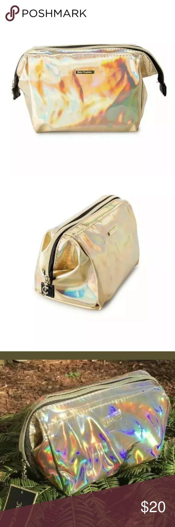 Juicy Couture Gold Holographic Makeup Bag Makeup bag