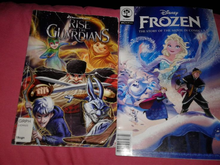 Rise of the Guardian and Frozen Comic books by blueappleheart89