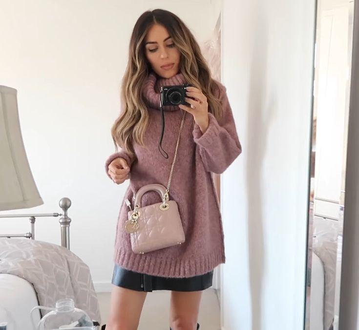 Lydia Elise Millen Acne sweater Lady Dior bag pink