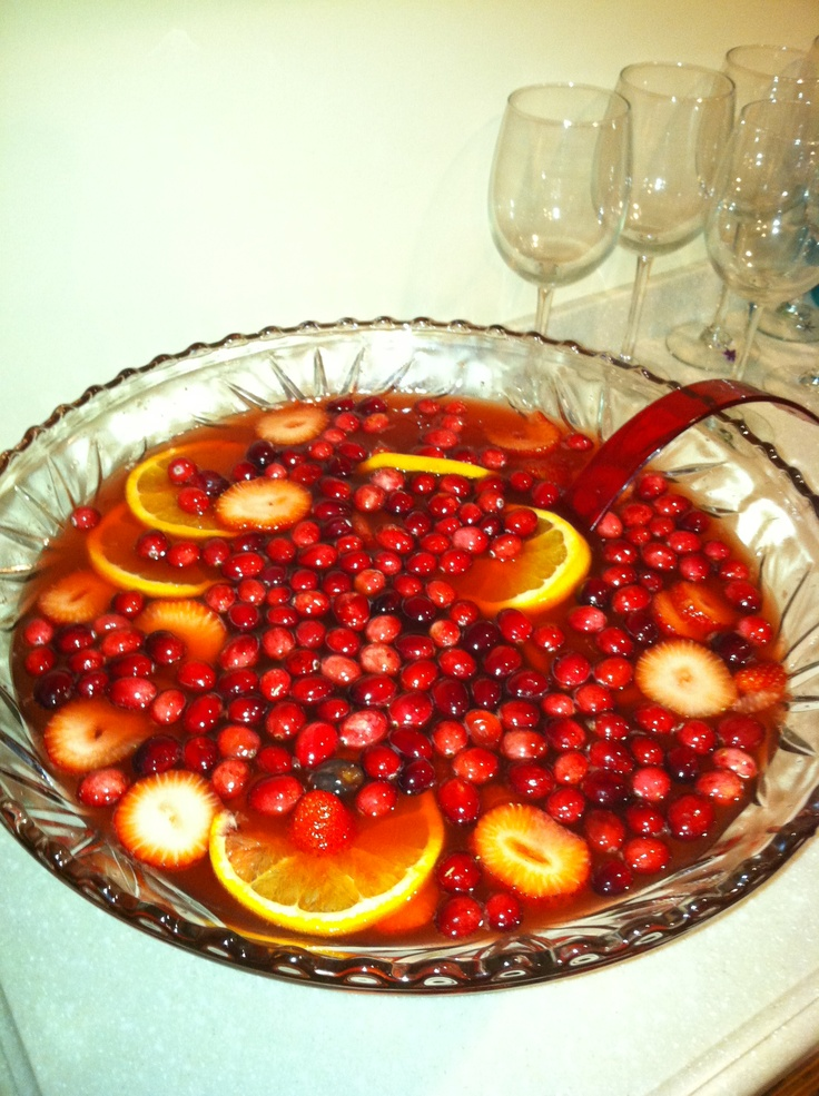 Holiday Champagne Punch | Christmas | Pinterest