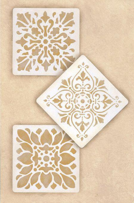 Summer Theme  Stencils | Renaissance Tile Stencils 1 | Royal Design Studio