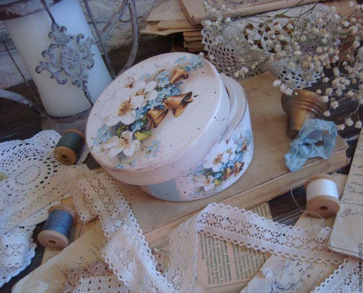 """Купить """"Весенний перезвон"""" шкатулочка - комбинированный, шкатулка бонбоньерка, шкатулка, бонбоньерка, винтаж, подарок"""