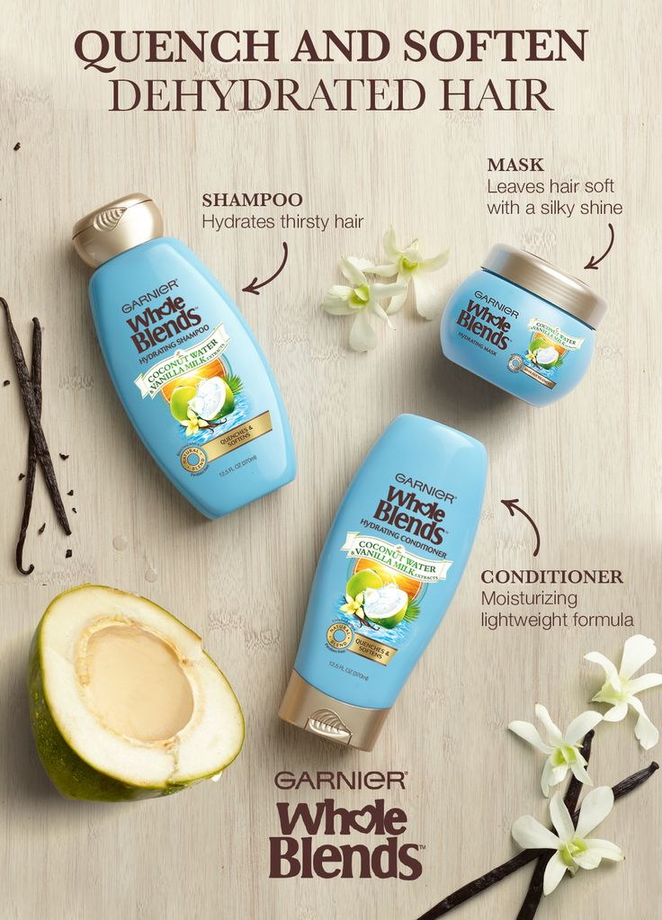 Is the summer sun making your hair thirsty? Try Garnier's New Whole Blends Hydrating Haircare. It's paraben-free and blooms with a tropical fragrance of Coconut Water & Vanilla Milk Extracts. The Hydrating Shampoo and Conditioner quench and soften dehydrated hair. The Hydrating Mask is light & silky and gives strands a deep dose of hydration without the weigh down. Explore the full Hydrating Haircare System for hair that's delectably soft with a silky shine.