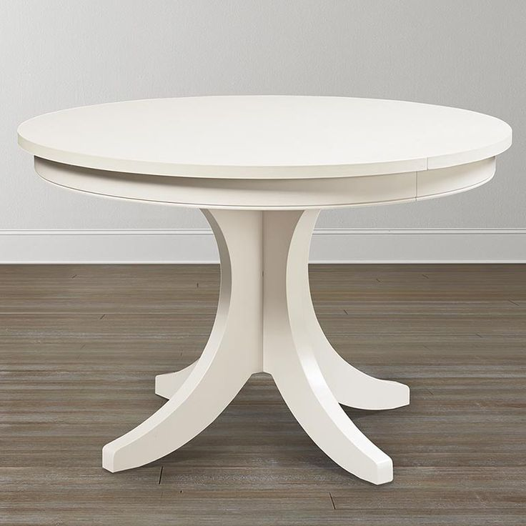 """48"""" Custom Round Pedestal Table With Seating For 6 (with leaf). Order in different color with different base and edge options available."""