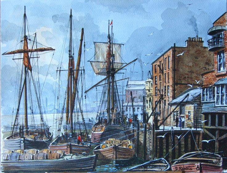 Old London. Watercolour.