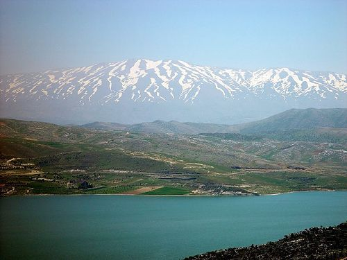 """Mount Hermon, Israel; Mount Hermon is a mountain cluster in the Anti-Lebanon mountain range. Its summit straddles the border between Syria and Lebanon[1] and, at 2,814 m (9,232 ft) above sea level, is the highest point in Syria.[2] On the top there is """"Hermon Hotel"""", in the buffer zone between Syria and Israeli-occupied territory, the highest permanently manned UN position in the world."""