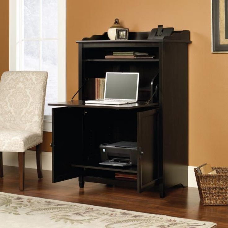 desks sau 413092 smartcenter cabinet furniture hidden computer deskmetal frame computer desk. Black Bedroom Furniture Sets. Home Design Ideas