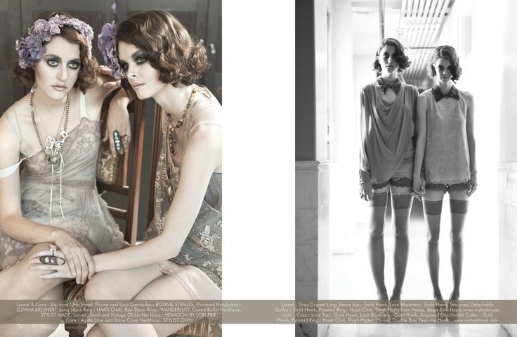 Izziana Millinery features in the Siamese Dream Editorial for Stilo Magazine LA. Stylist Kristen M Stuart.