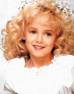 The murder of JonBenet Ramsey 1996-Bless her heart   I remember reading about this!