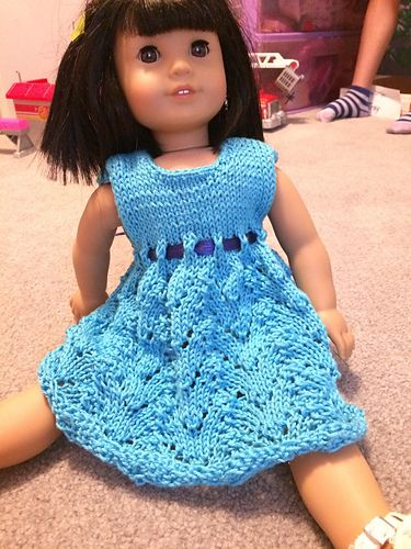 c74f2e6a3 Ravelry  unoriginal s American Girl Doll Empire Waist Lace Dress ...