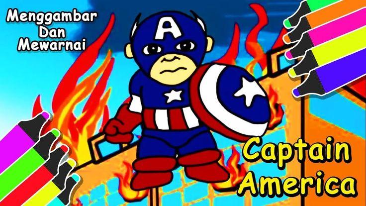 Gambar Kartun Captain America Untuk Mewarnai Gambar Captain America Gambar Kartun