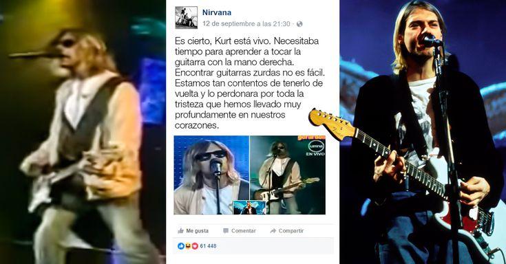 """El sitio de Facebook de Nirvana """"confirmó"""" que Kurt Cobain está vivo, luego de viralizarse un video donde un peruano Ramiro Saavedra es muy parecido a Cobain"""