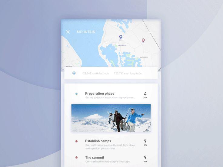 Map/Location UI Inspiration — Muzli -Design Inspiration
