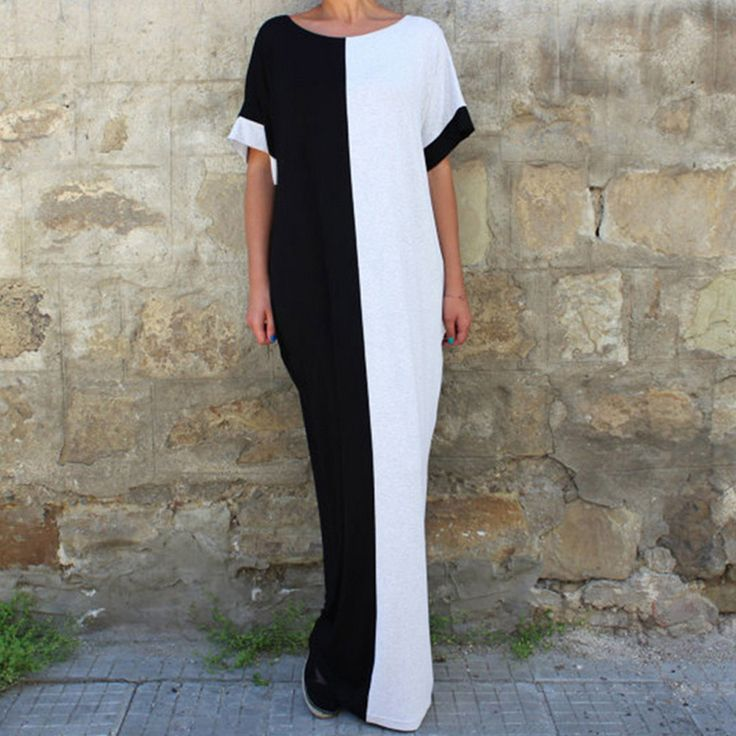 Women-Fashion-Loose-Oversized-Batwing-Sleeve-Party-Evening-Long-Maxi-Dress-Abaya