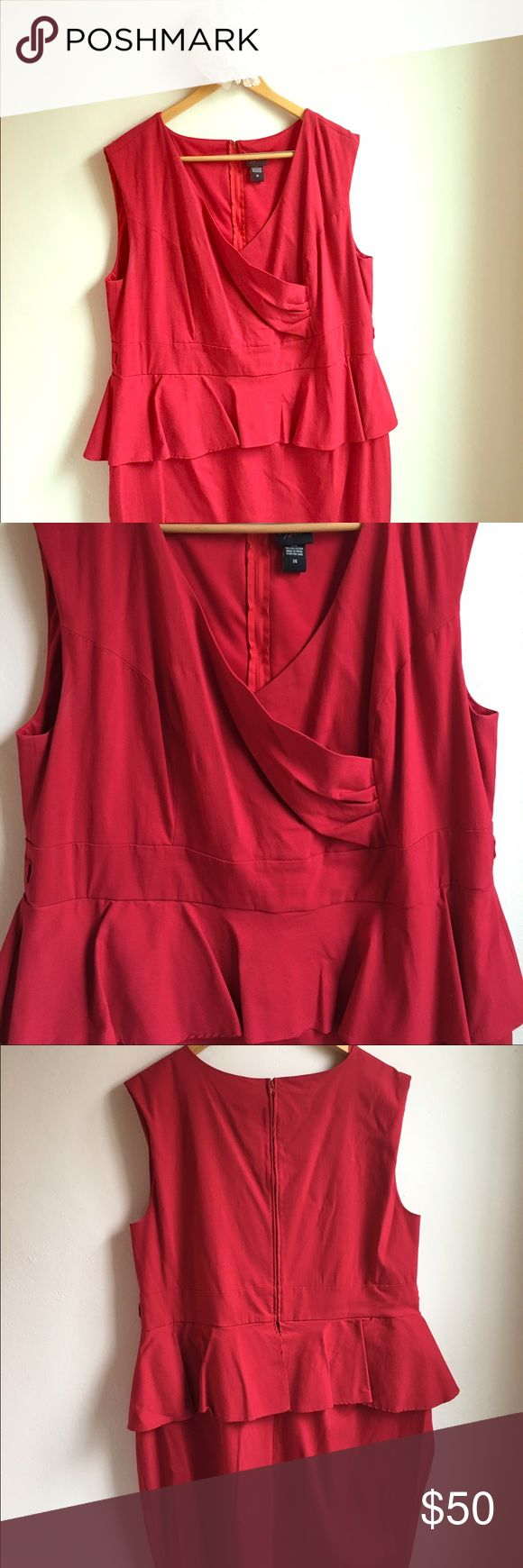 Red Torrid peplum special occasion dress This red peplum dress is perfect for showing off the curves! It hugs the body with its thick stretch material, allowing you to have a great shape that doesn't show everything. Worn once torrid Dresses Midi