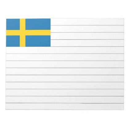 Sweden flag notepad - diy cyo personalize design idea new special custom